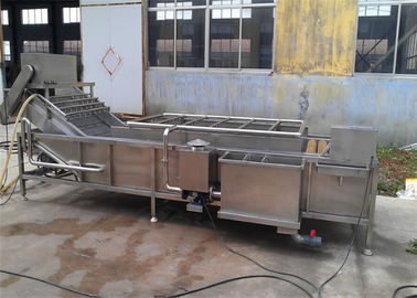 China Bubble Fruit Washing Machine , Energy Saving Fruit And Vegetable Washer Machine supplier
