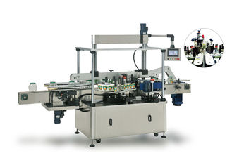China Square / Flat Bottle Two Side Labeling Machine With Excellent Stability supplier