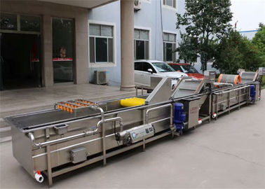 Canned Food Processing Equipment Tunnel Conveyor Low Temperature Sterilization Line