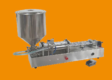 Paste Pneumatic Liquid Filling Machine , Semi Auto Piston Filling Machine