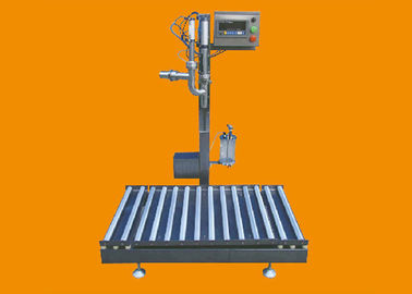 100W Weighing Filling Machine , Iron Semi Automatic Drum Filling Machine