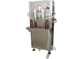 Liquid Quantitative Filling Machine , Double Plastic Bottle Semi Automatic Filling Machine