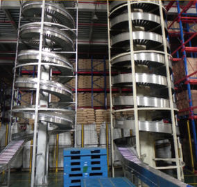 High Speed Spiral Elevator Conveyor For Food Filling Production Line