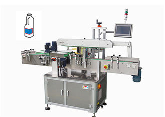 One Side Industrial Automatic Labeling Machine For Square Food Oil Bottles