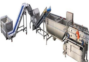China 4.2KW Vegetable Cleaning Machine , Compact Structure Vegetable Washing Machine supplier