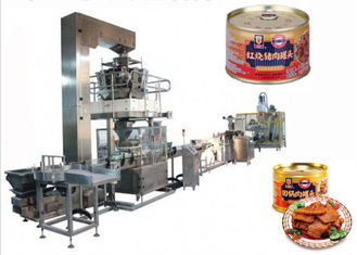 Simple Structure Meat Canning Equipment Automatic Particle Filling Production Line
