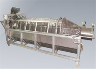 300kg / H Fish Scale Remover Machine , Fish Scaler Machine For Canned Production Line