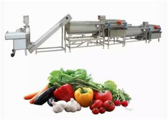 China Energy Saving Vegetable Canning Equipment Automatic Eddy Current Washing Line supplier