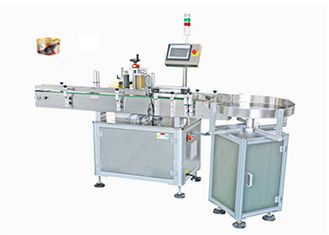 Vertical Round Can Automatic Labeling Machine High Capacity 50 - 200b / Min