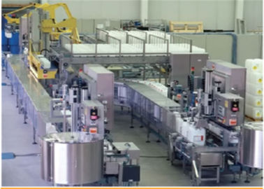 China Auto Weighing Filling Production Line For Liquid Touch Screen Operation factory