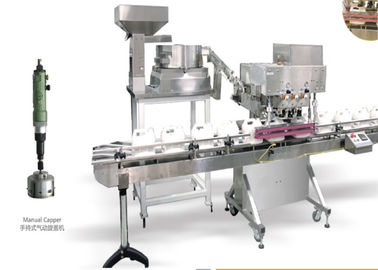 China Line Structure Automatic Capping Machine 1.2kw For Cosmetic Industry factory